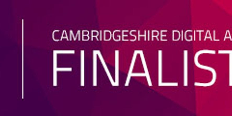 We Are Finalists For The Cambridgeshire Digital Awards
