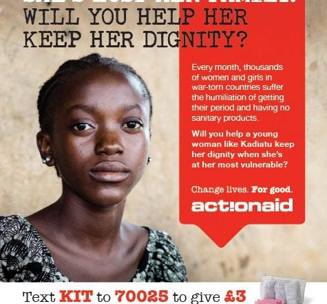Proud To Support ActionAid UK