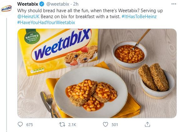 Social Media Done Right: Beans on Weetabix