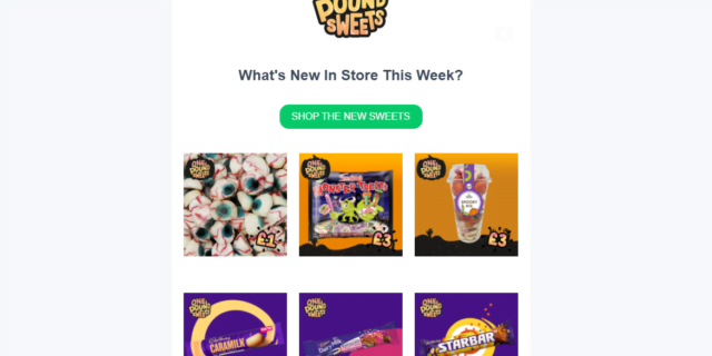 Great Email Newsletter From One Pound Sweets